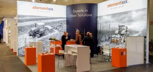 Messestand auf der AGRITECHNICA 2019 für die Element Six GmbH (E6)