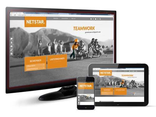 Responsive Webrelaunch inkl. Jobmodul für Netstar